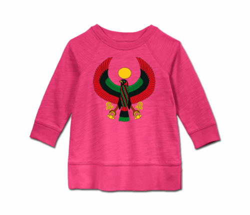 Toddler Raspberry Heru Long Sleeve Tunic