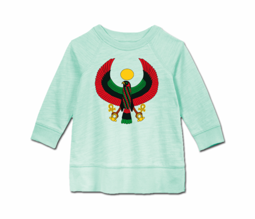 Toddler Mint Heru Long Sleeve Tunic