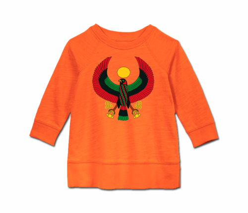 Toddler Tangerine Orange Heru Long Sleeve Tunic