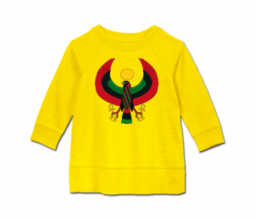 Toddler Yellow Heru Long Sleeve Tunic