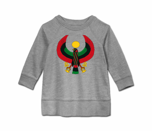 Toddler Heather Grey Heru Long Sleeve Tunic