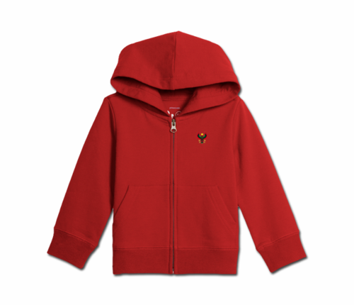 Toddler Red Heru Zip Hoodie