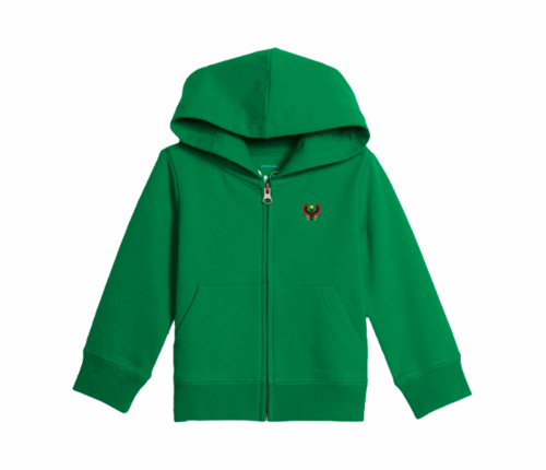 Toddler Kelly Green Heru Zip Hoodie
