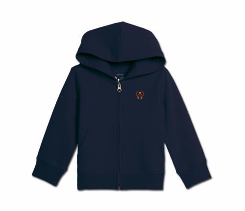 Toddler Navy Blue Heru Zip Hoodie