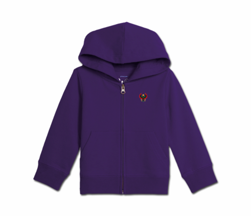 Toddler Purple Heru Zip Hoodie