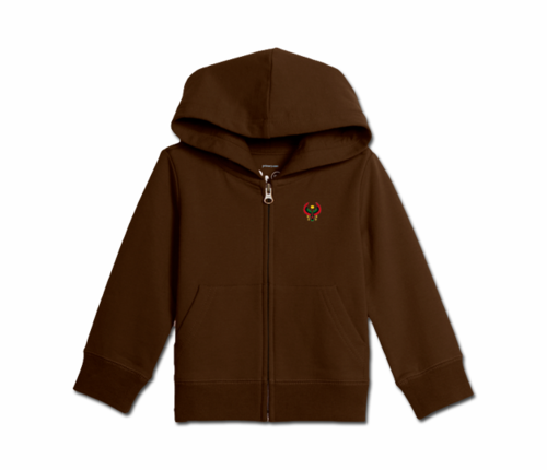 Toddler Chocolate Heru Zip Hoodie