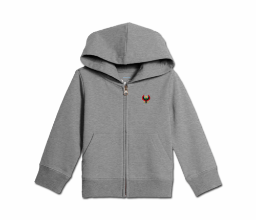 Toddler Heather Grey Heru Zip Hoodie