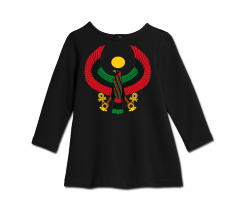 Toddler Black Heru Cozy Dress