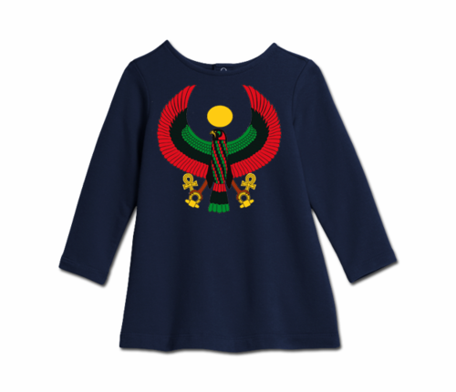 Toddler Navy Blue Heru Cozy Dress
