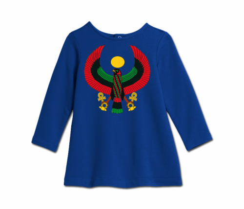 Toddler Royal Blue Heru Cozy Dress