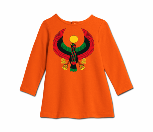 Toddler Tangerine Orange Heru Cozy Dress