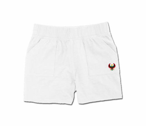 Toddler White Heru Play Shorts