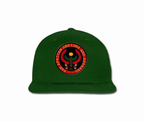 Men Forest Green Heru Snap Back (with circular seal design)